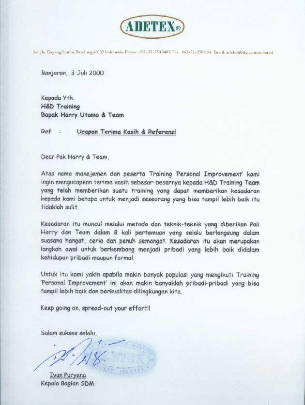 Contoh Surat Pribadi Bahasa Indonesia Bahasa Inggris